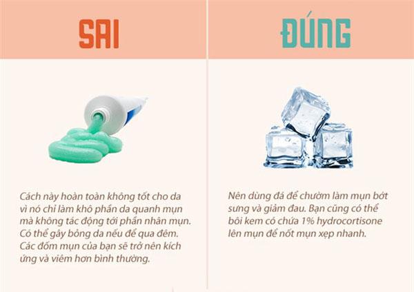 Đá có tác dụng rất tốt trong quá trình massage da mặt
